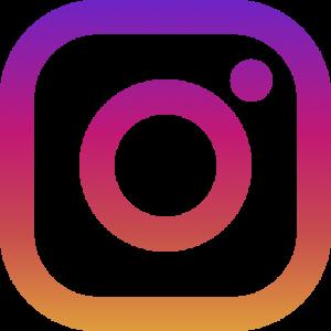 Instagram-Zeichen. Aktives Symbol, das zu einer Instagram-Seite führt.